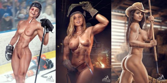 Photoshop Muscular Females Picture