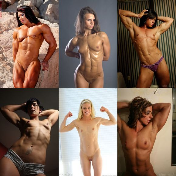 Flat breasted muscle girls