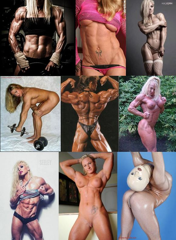 Female Bodybuilder Picture Collage