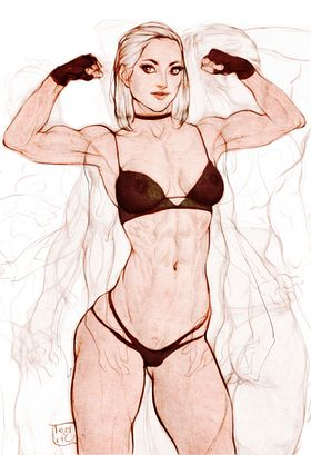Muscle Girl Art Picture