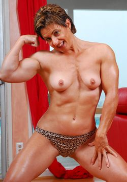 Muscular Female Model Picture