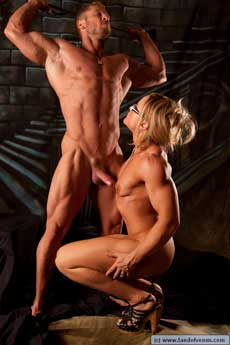Female Bodybuilder & Boy Picture