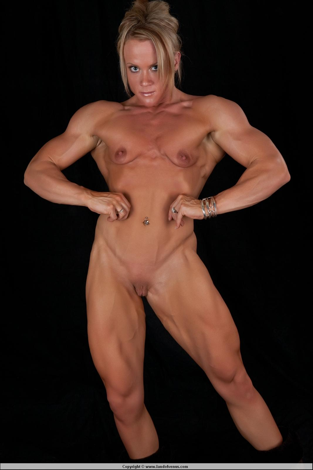 Assured, sexy naked women bodybuilders