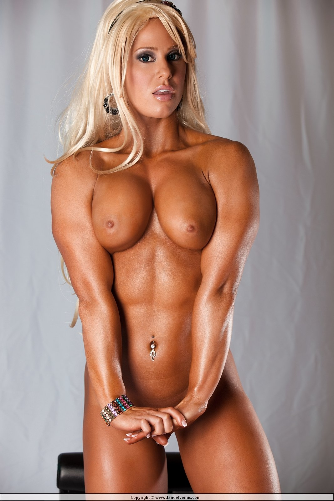 Naked muscle woman