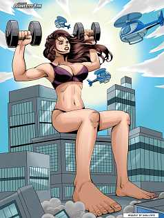 Giantess Muscle Girl Art Picture