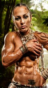 Muscle Girl Karina Akmens Picture