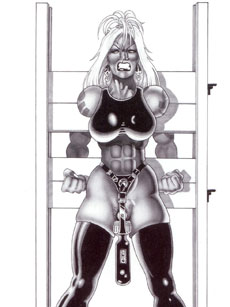 Fetish Art Muscle Girl Picture