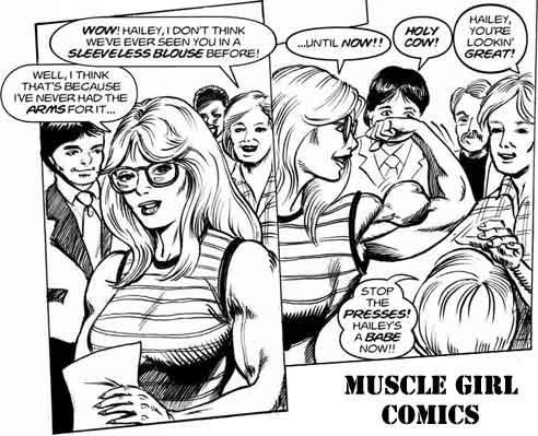 Muscle Girl Comic Picture