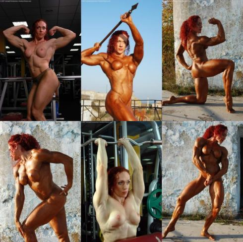 Redhead Female Bodybuilder Picture