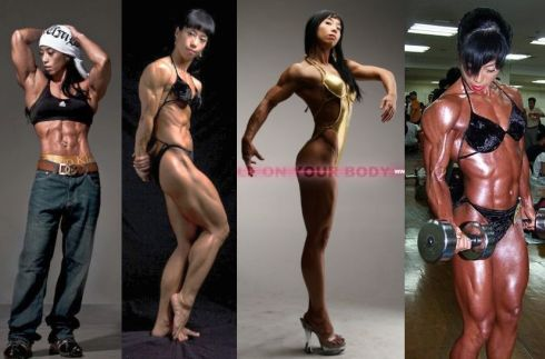 Korean Female Bodybuilder Mi-Hee Yu Picture