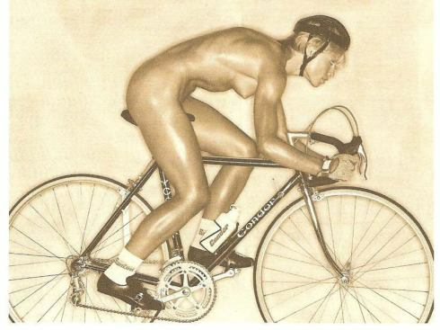 Nude Bicycle Muscle Girl Picture