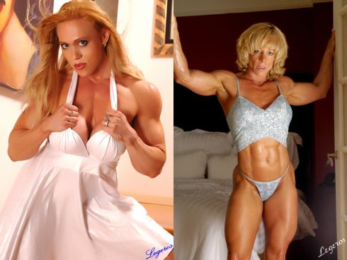 George Legeros Muscle Girl Picture