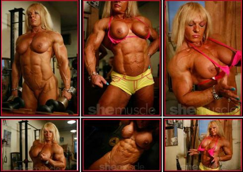 Nude Female Bodybuilder Maryse Manios Picture
