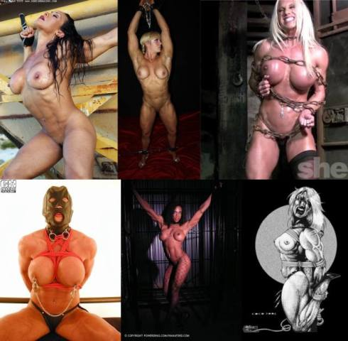 Muscle Girl Collage