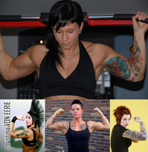 muscular punk muscle girls Picture