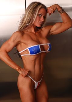 Patriotic Muscle Girl Picture