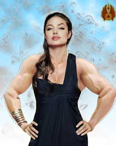 Angelina Jolie Muscle Morph Picture