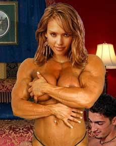 Jessica Alba Muscle Morph Picture