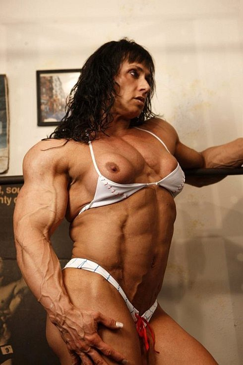 Nude Female Bodybuilder Tazzie Colomb Picture Gallery