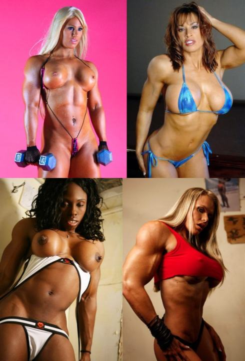 Muscle Girl Morph Picture