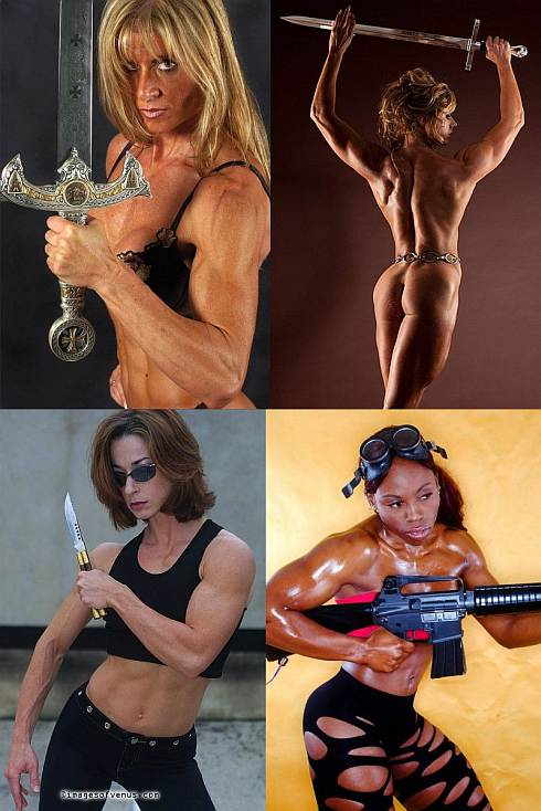 Muscle Girls With Weapons Picture