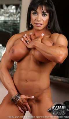 Nude Female Bodybuilder Marina Lopez Picture