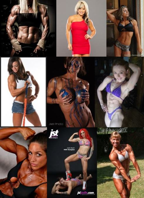 Muscle Girl Mosaic Picture