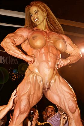 Female Bodybuilder Art