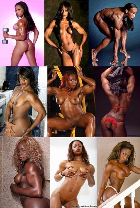 Nude Black Female Bodybuilder Picture