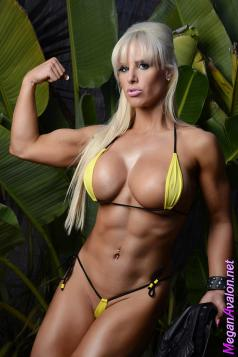 Female Muscle Woman Megan Avalon Picture
