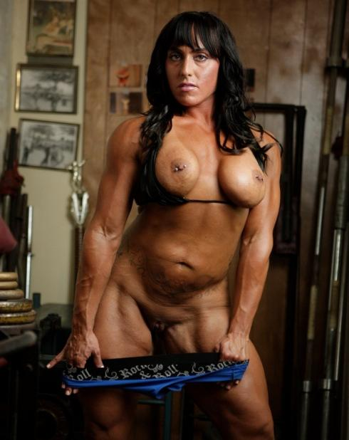 Nude Female Bodybuilder Bella Monet Picture
