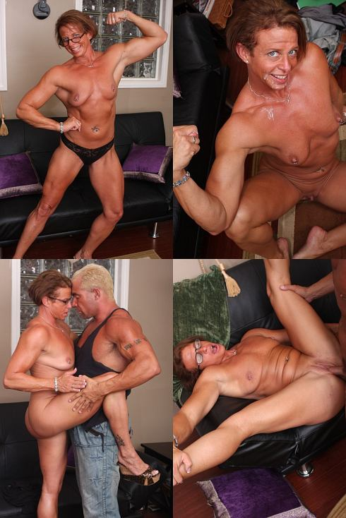 Sex With Muscle Girl