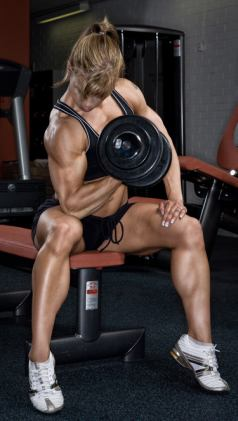 Female Bodybuilder Susanna Mantila Picture