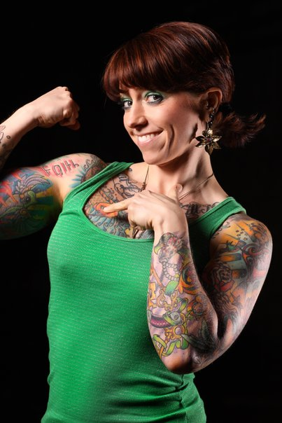 muscle women nude Tattooed