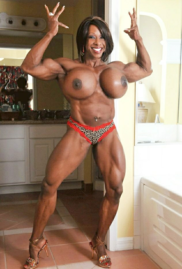 Busty nude muscle girls