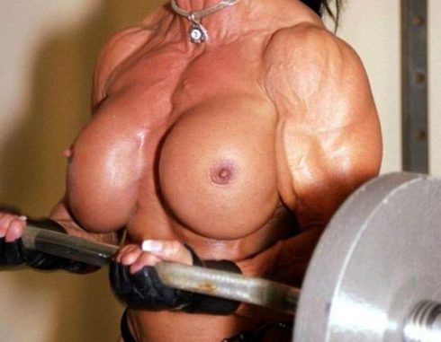 female bodybuilder with breast enhancements Picture
