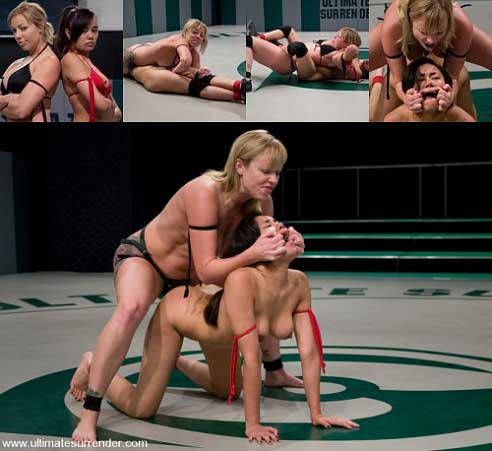 Brutal Match Big Titted Adrianaconda Vs Dominating Asian Scorpion