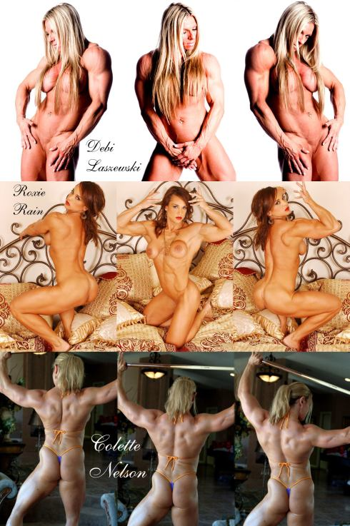 Female Bodybuilder Collage Picture